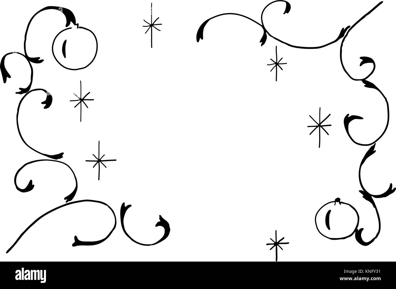 Drawings Of Christmas Decorations.Vector Drawing Of Christmas Decorations Stock Vector Art