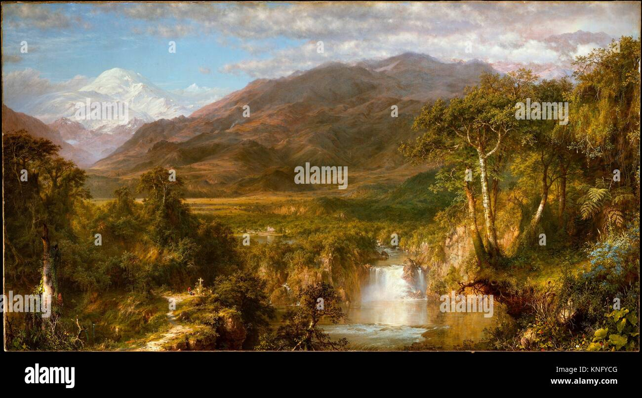 Heart of the Andes. Artist: Frederic Edwin Church (American, Hartford, Connecticut 1826-1900 New York); Date: 1859; Stock Photo