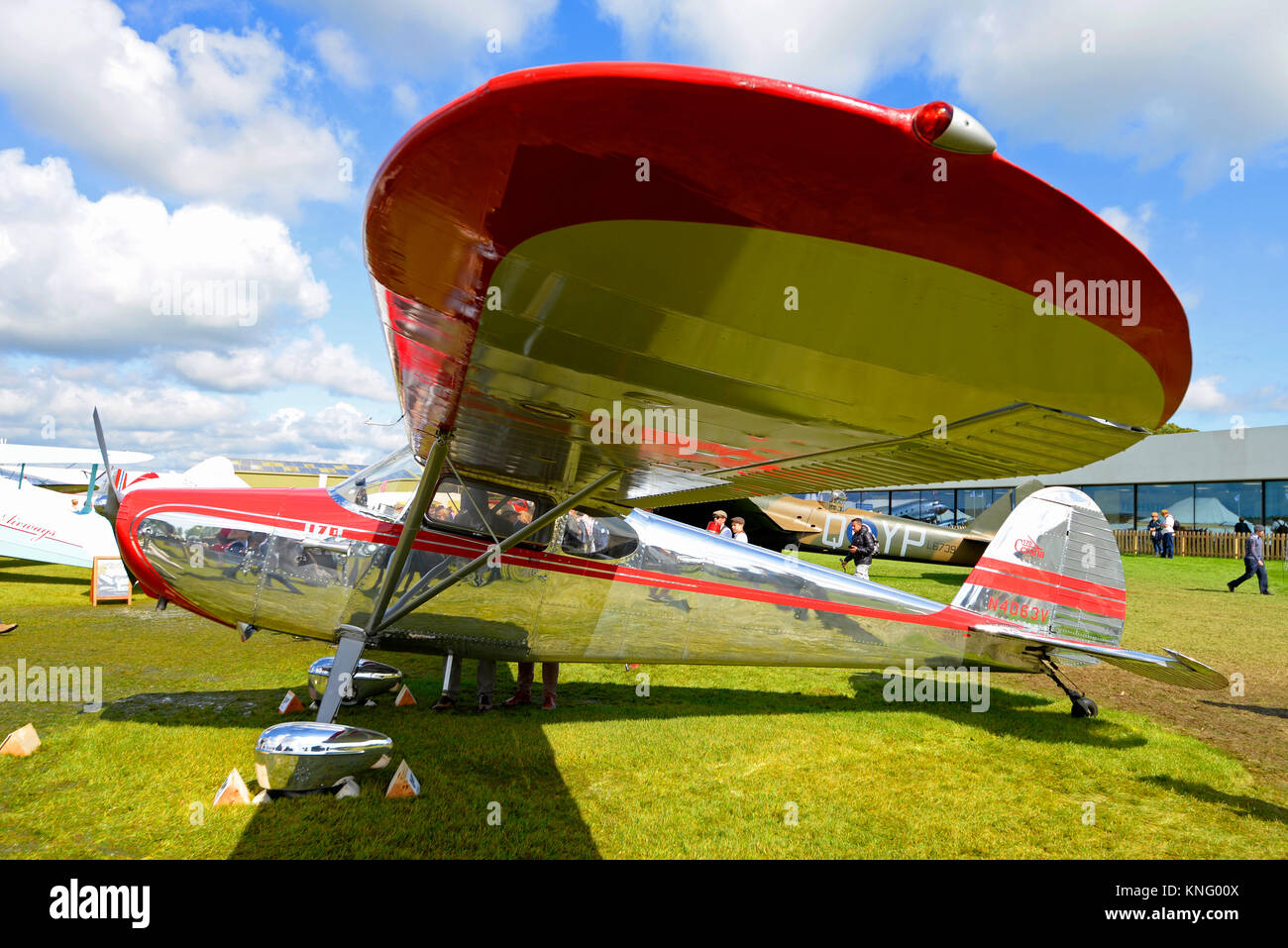 Cessna 170 high wing monoplane in the Freddie March Spirit of Aviation Goodwood Revival 2017 - Stock Image