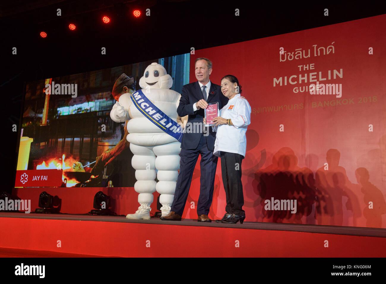 Jay Fai awarded one star by the Michelin Guide, Bangkok, Thailand Stock Photo