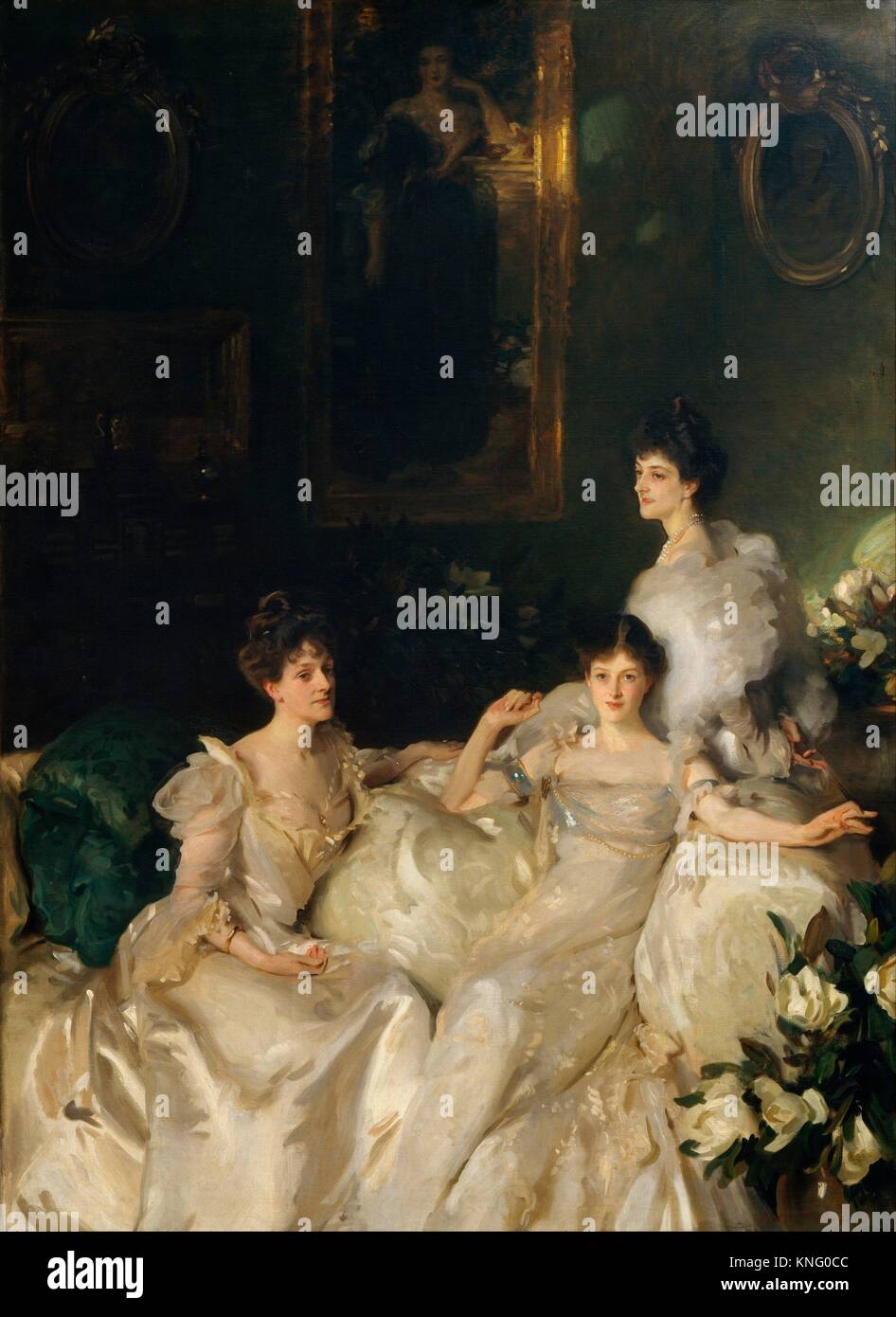 The Wyndham Sisters: Lady Elcho, Mrs. Adeane, and Mrs. Tennant. Artist: John Singer Sargent (American, Florence - Stock Image