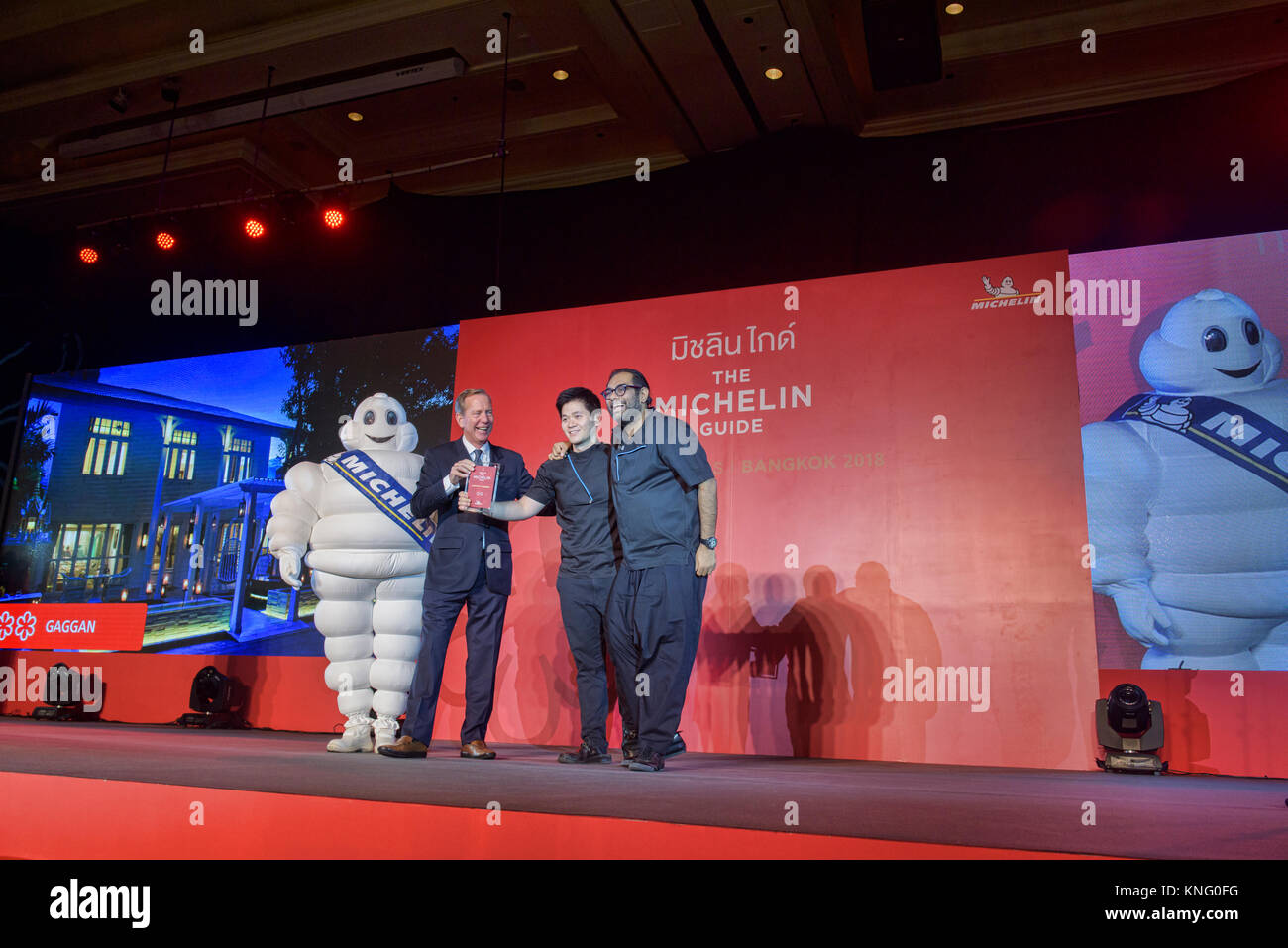 Chef Gaggan awarded two stars by the Michelin Guide, Bangkok, Thailand Stock Photo