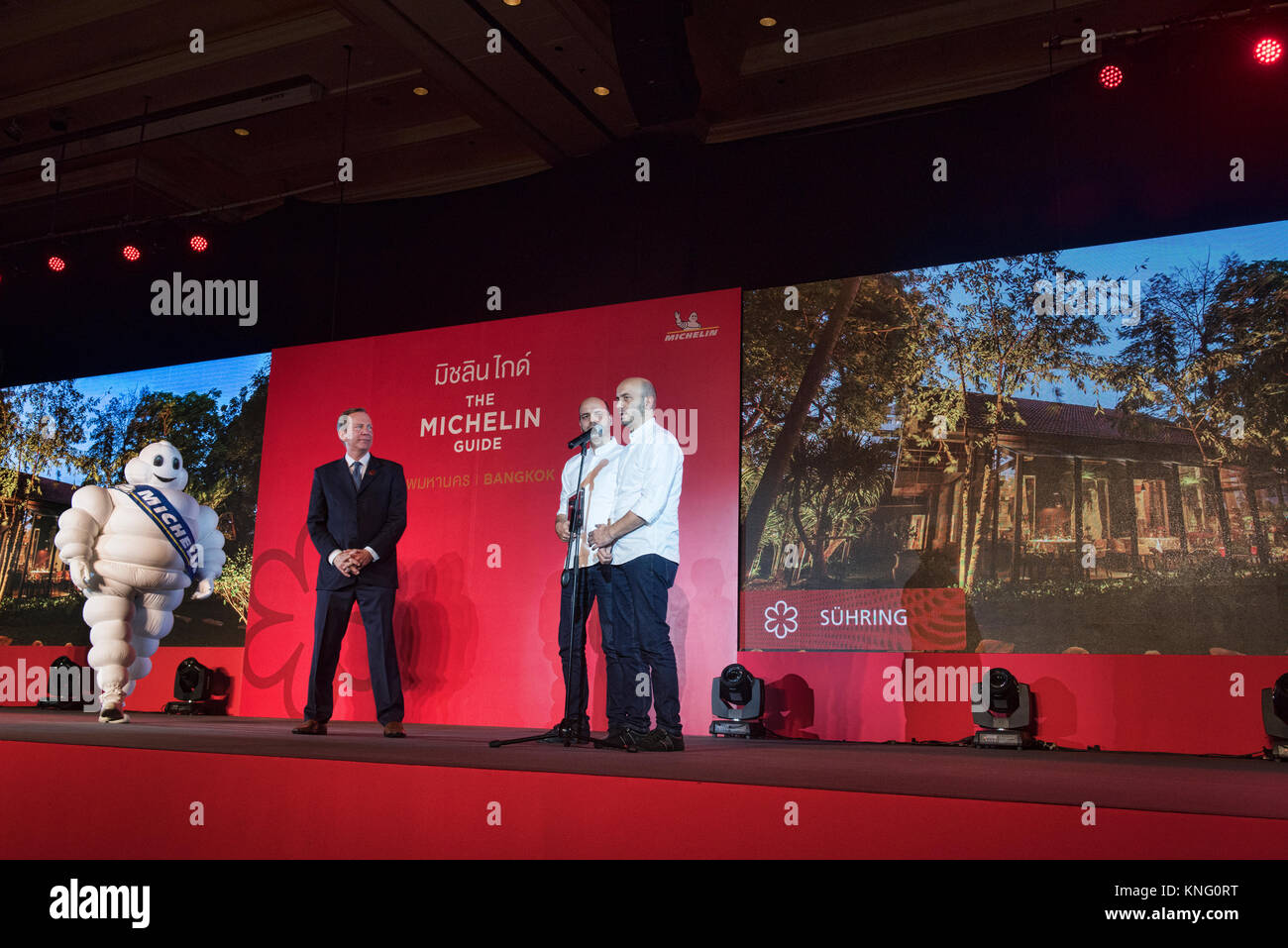 Thomas and Mathias Suhring awarded one star by the Michelin Guide, Bangkok, Thailand Stock Photo