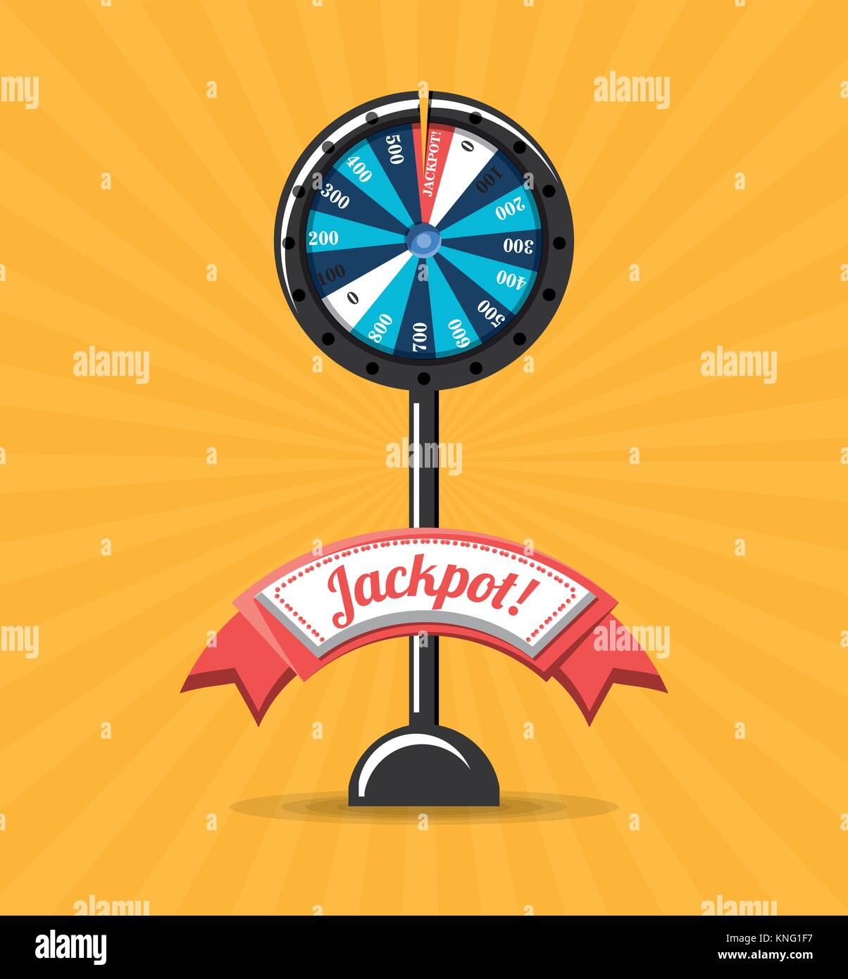 fortune wheel design - Stock Vector
