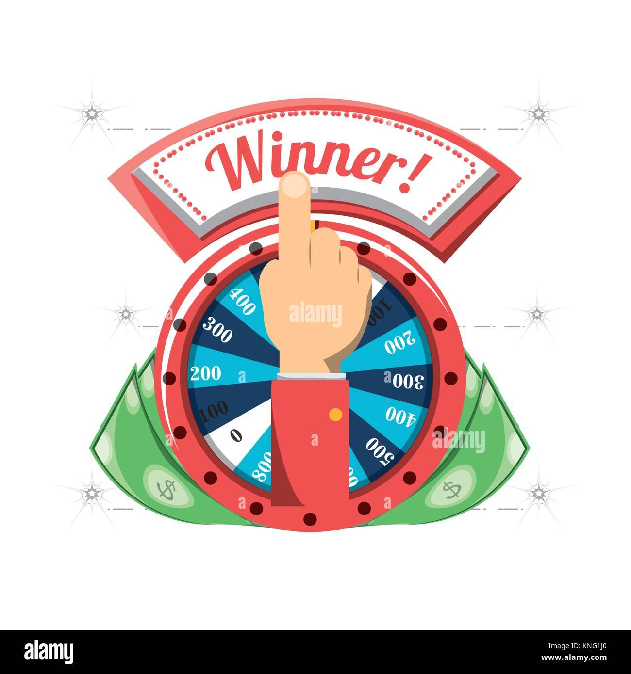 fortune wheel design - Stock Image