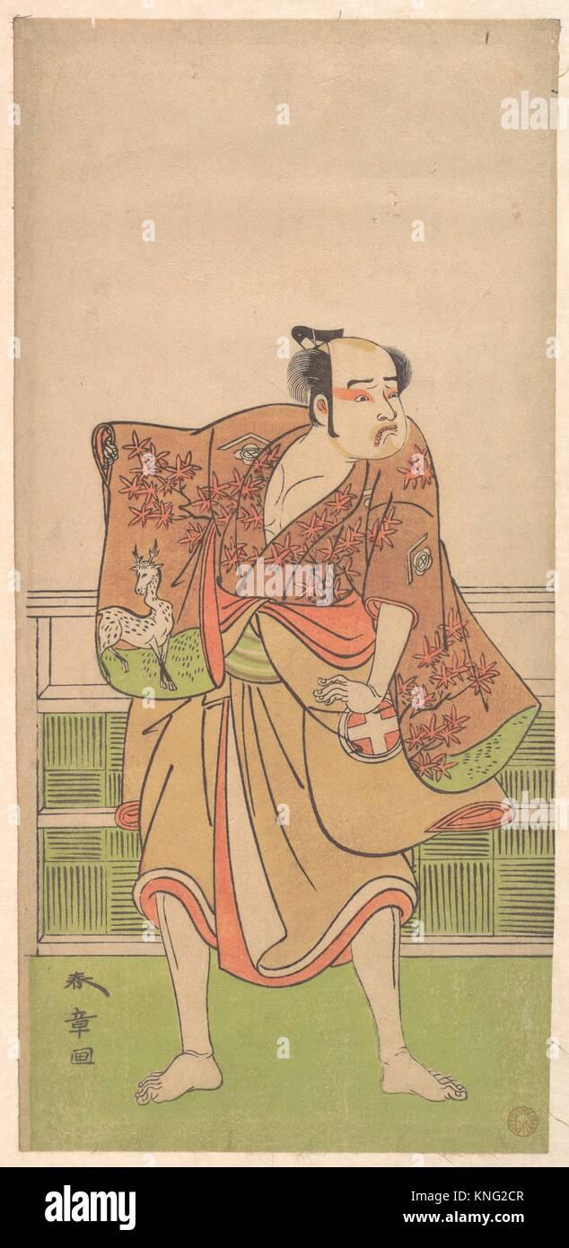 Otani Hiroemon in the role of Gokumon no Shobei. Artist: Katsukawa Shunsho (Japanese, 1726-1792); Period: Edo period - Stock Image
