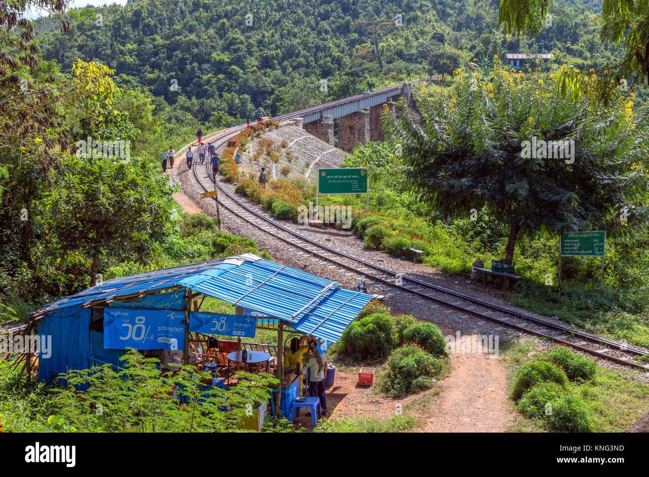 Ba Wa Sam Sa Ra Bridge, Heho, Myanmar, Asia - Stock Image