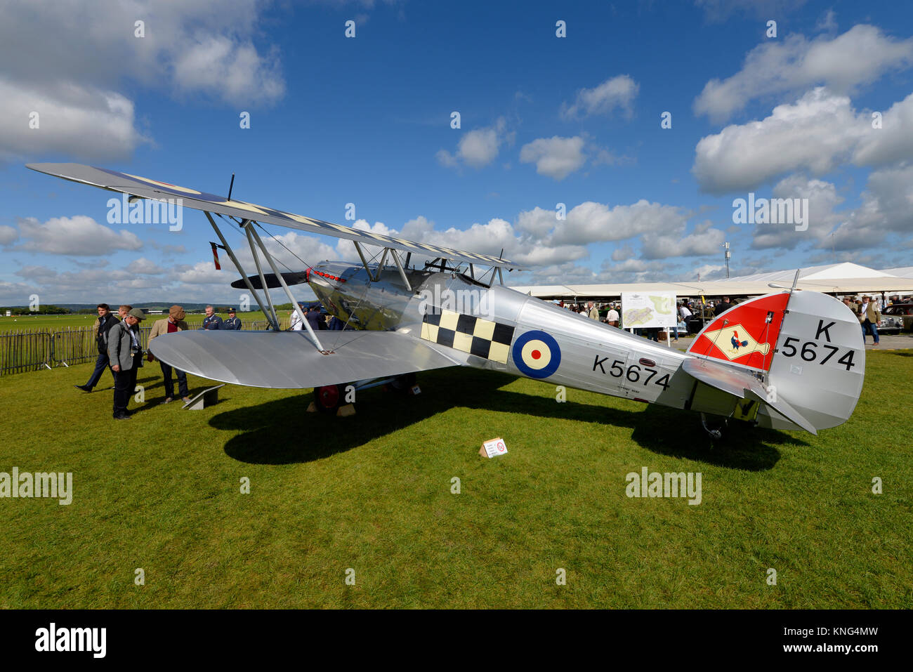 Hawker Fury K5674 biplane fighter owned by Historic Aircraft Collection in the Freddie March Spirit of Aviation Stock Photo