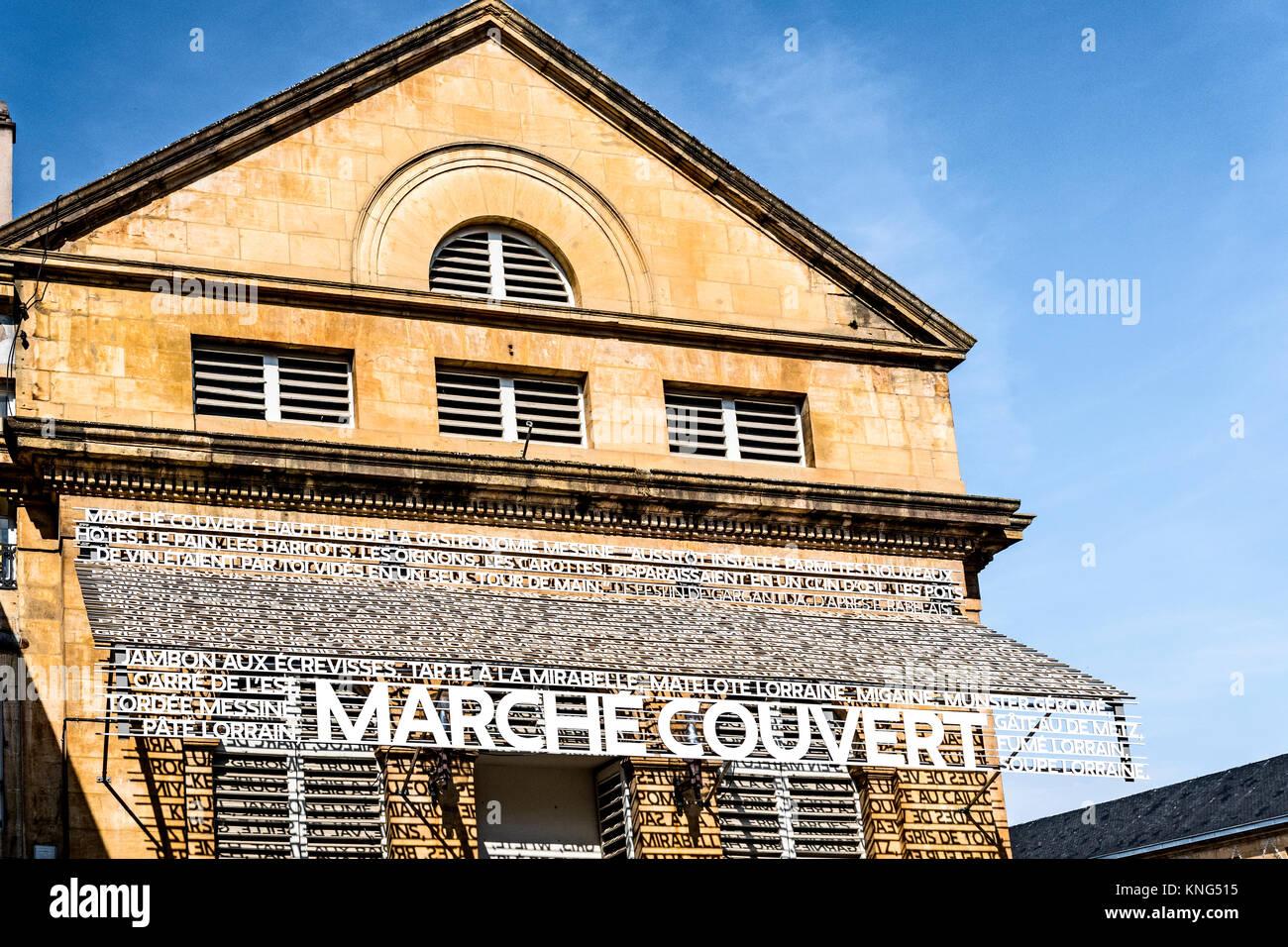 Metz (France): Covered market - Markthalle - Stock Image