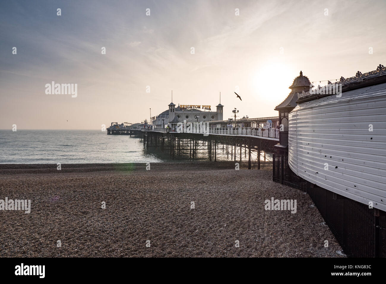 Brighton Pier, Sussex, England, UK. - Stock Image