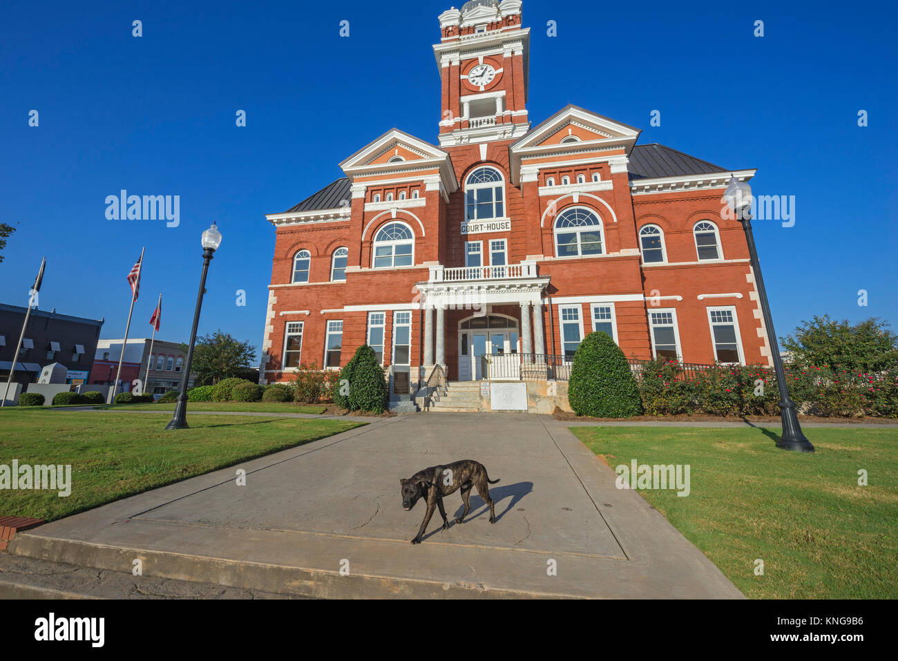 Monroe County Courthouse in Forsyth, Georgia, was built in