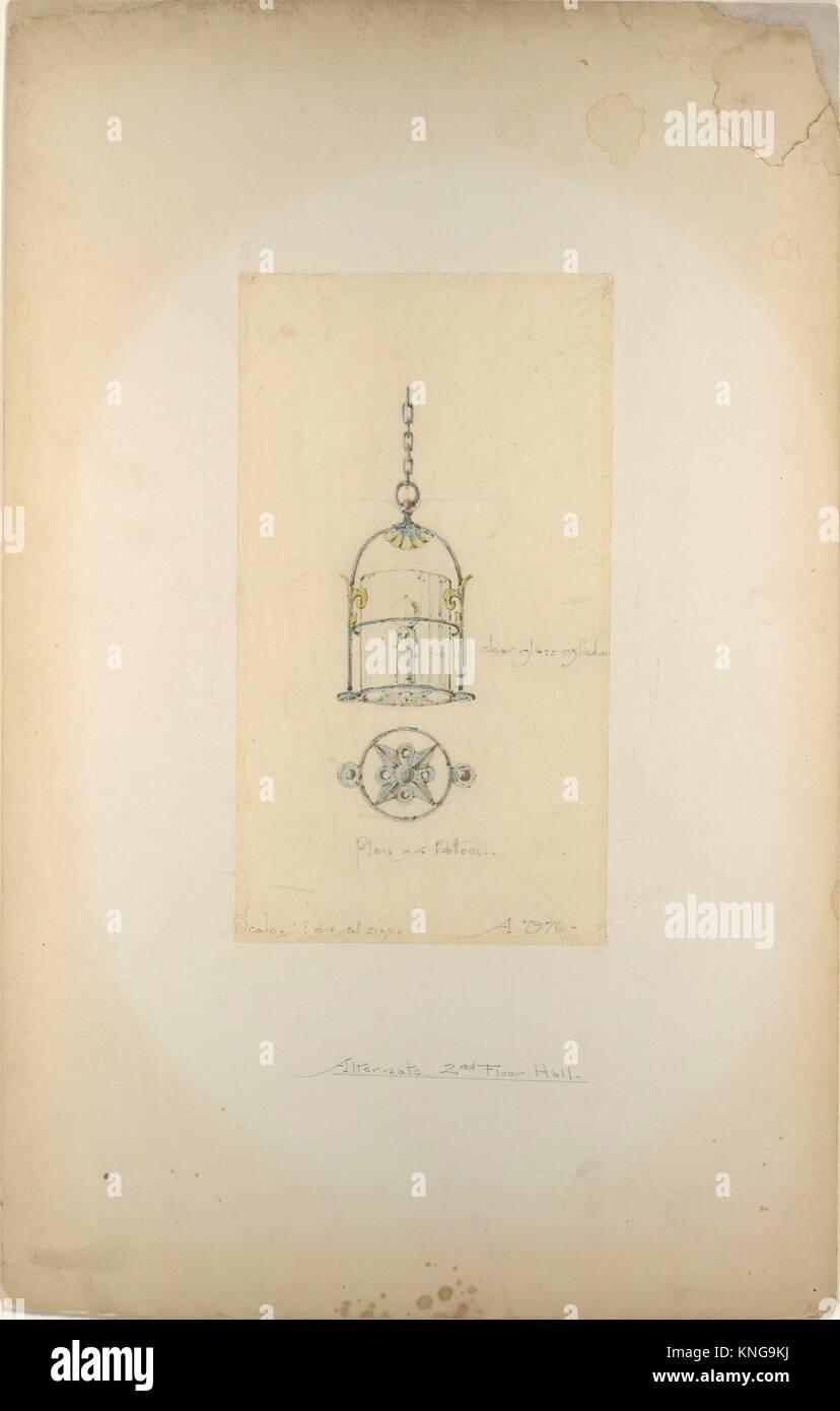 Design for hanging lantern. Artist: Louis Comfort Tiffany (American, New York 1848-1933 New York); Maker: Possibly Stock Photo