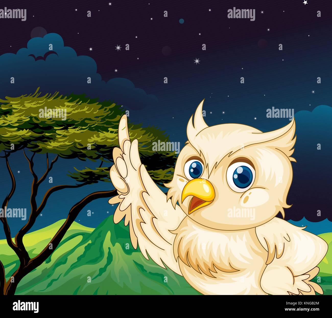 Stars In Your Eyes Stock Vector Images Alamy Flipper Owl Hearty Orange Illustration Of A Big The Jungle