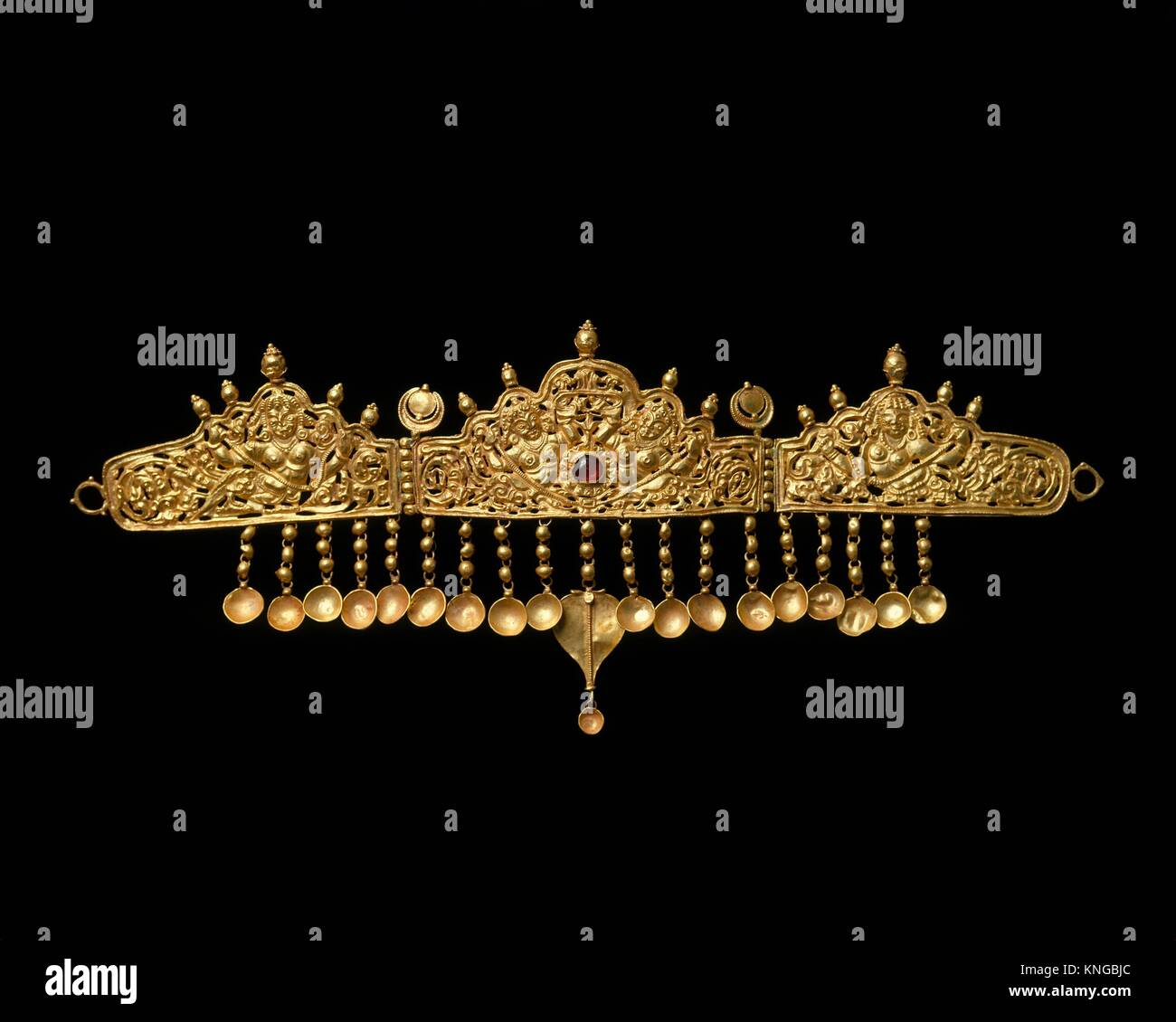 Diadem with Kinnaris (Half-Bird, Half-Female Creatures). Date: 9th-10th century; Culture: India (Jammu & Kashmir, - Stock Image