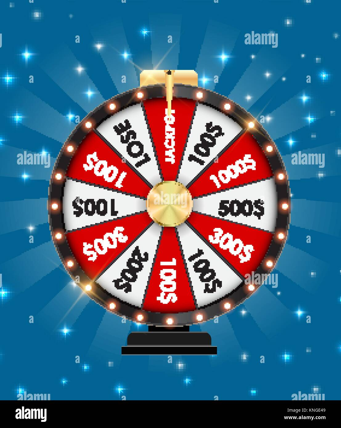Wheel of Fortune, Lucky Icon with Place for Text. Vector Illustration - Stock Vector