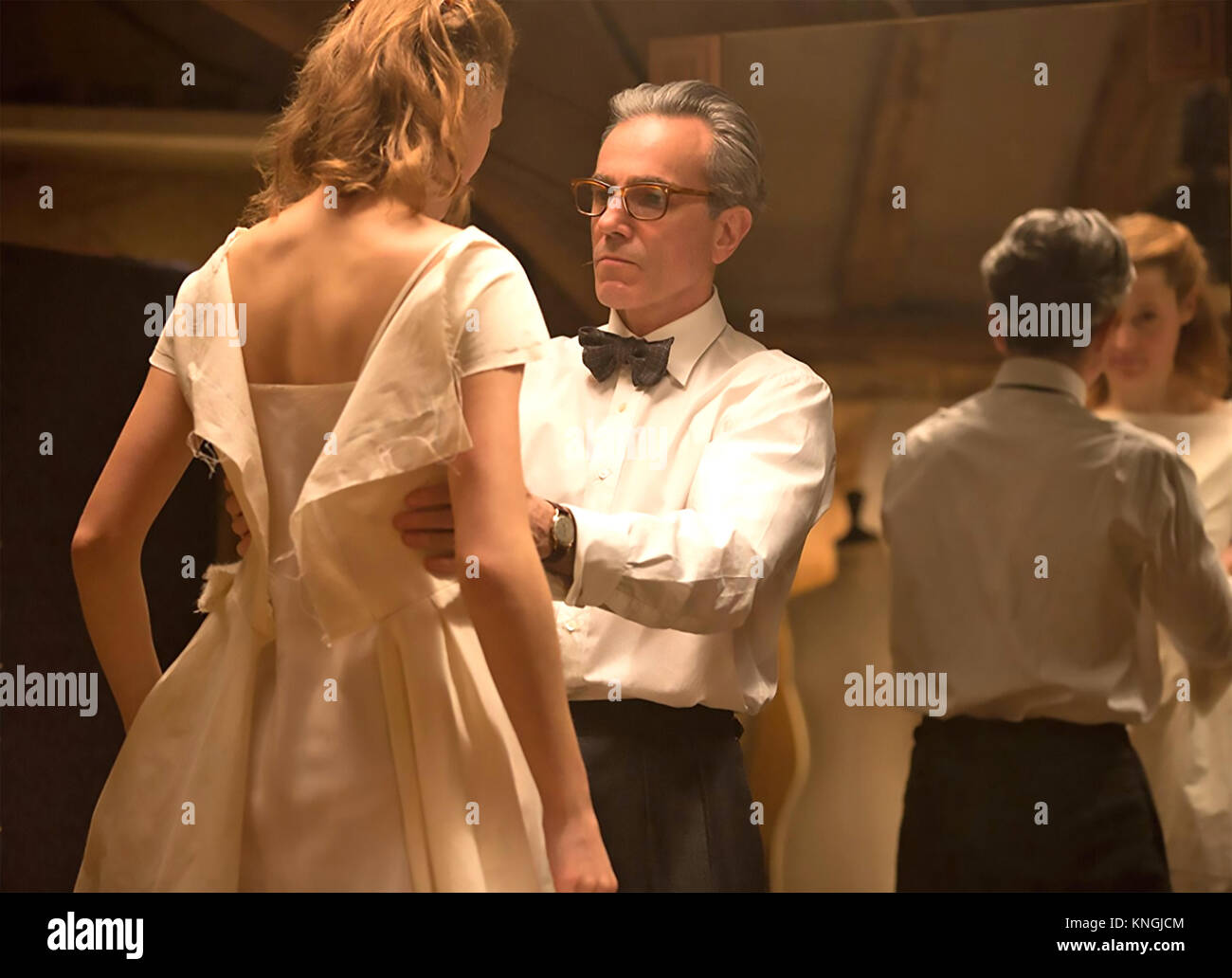 PHANTOM THREAD 2018 Focus Features film with Vicky Krieps and Daniel Day-Lewis - Stock Image