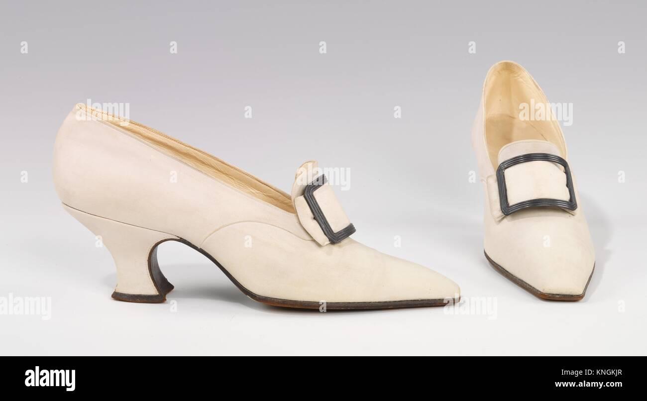 Pumps. Designer: Pierre Yantorny (Italian, 1874-1936); Date: 1914-19; Culture: French; Medium: leather, metal; Credit - Stock Image