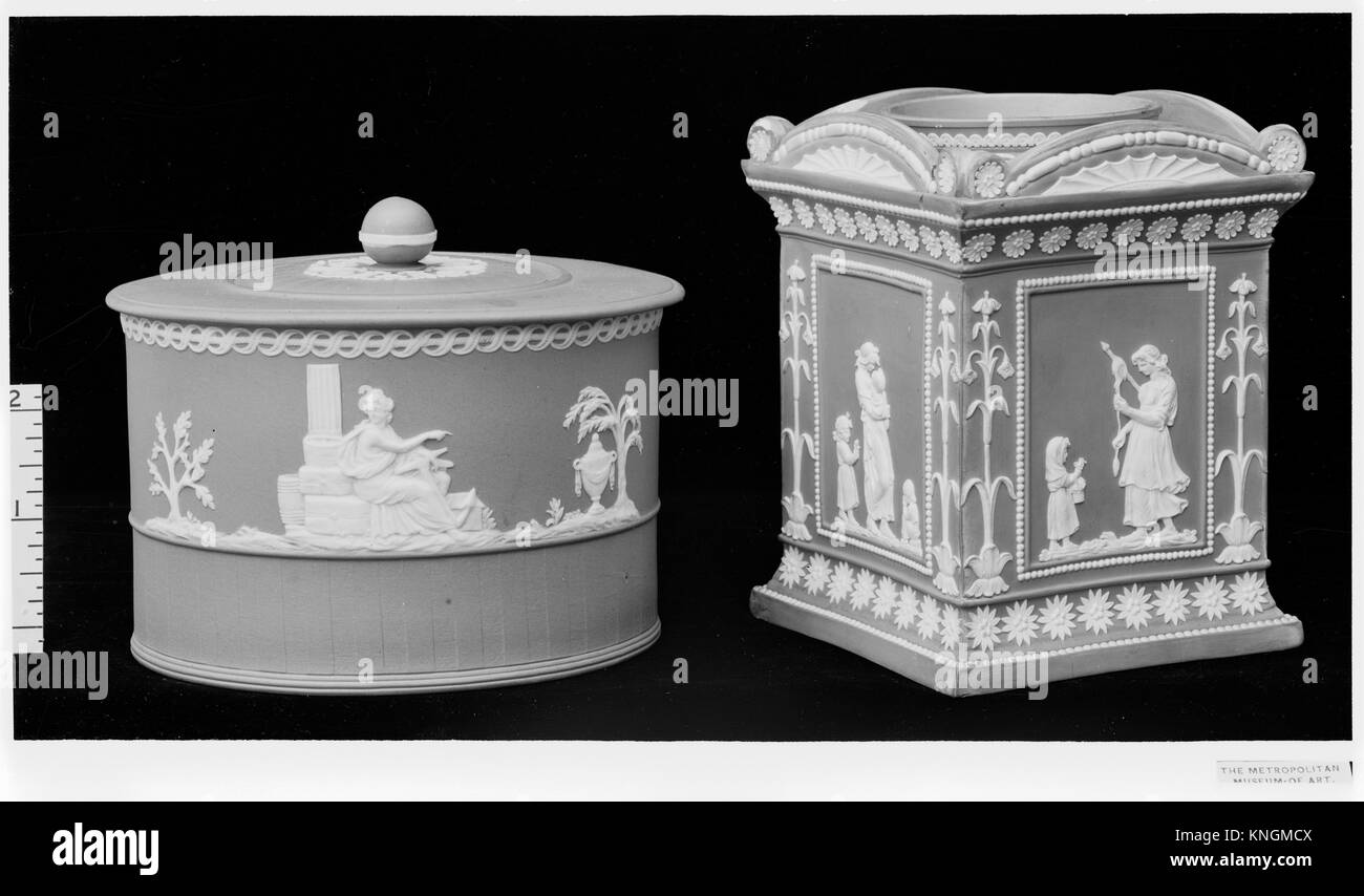Sugar bowl. Factory: William Adams (1745-1805, active 1780-1804); Date: 18th century; Culture: British, Tunstall, - Stock Image