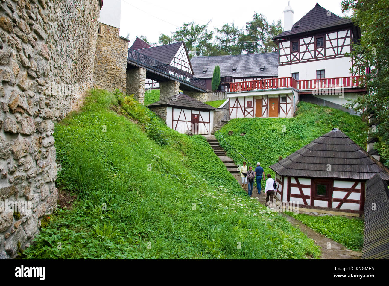 castle with open-air museum Seeberg, village Ostroh, Karlovy vary region, Czech republic Stock Photo