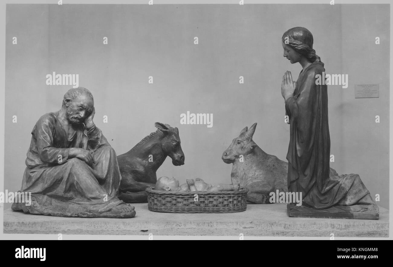 Nativity (five figures forming a presepio). Artist: Workshop of Antonio Rossellino (Italian, Settignano 1427-ca. - Stock Image