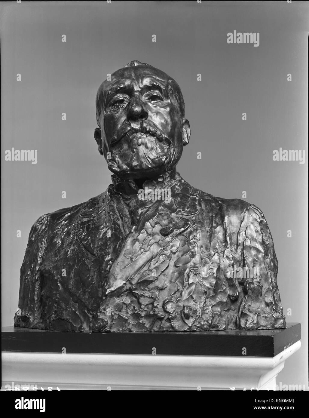 Pierre Puvis de Chavannes. Artist: Auguste Rodin (French, Paris 1840-1917 Meudon); Founder: Cast by Alexis Rudier - Stock Image