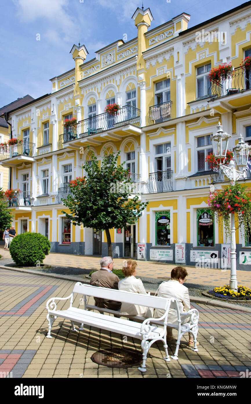 famous historical spa resort Frantiskovy lazne with healing water springs, West Bohemia, Czech republic - suggested - Stock Image