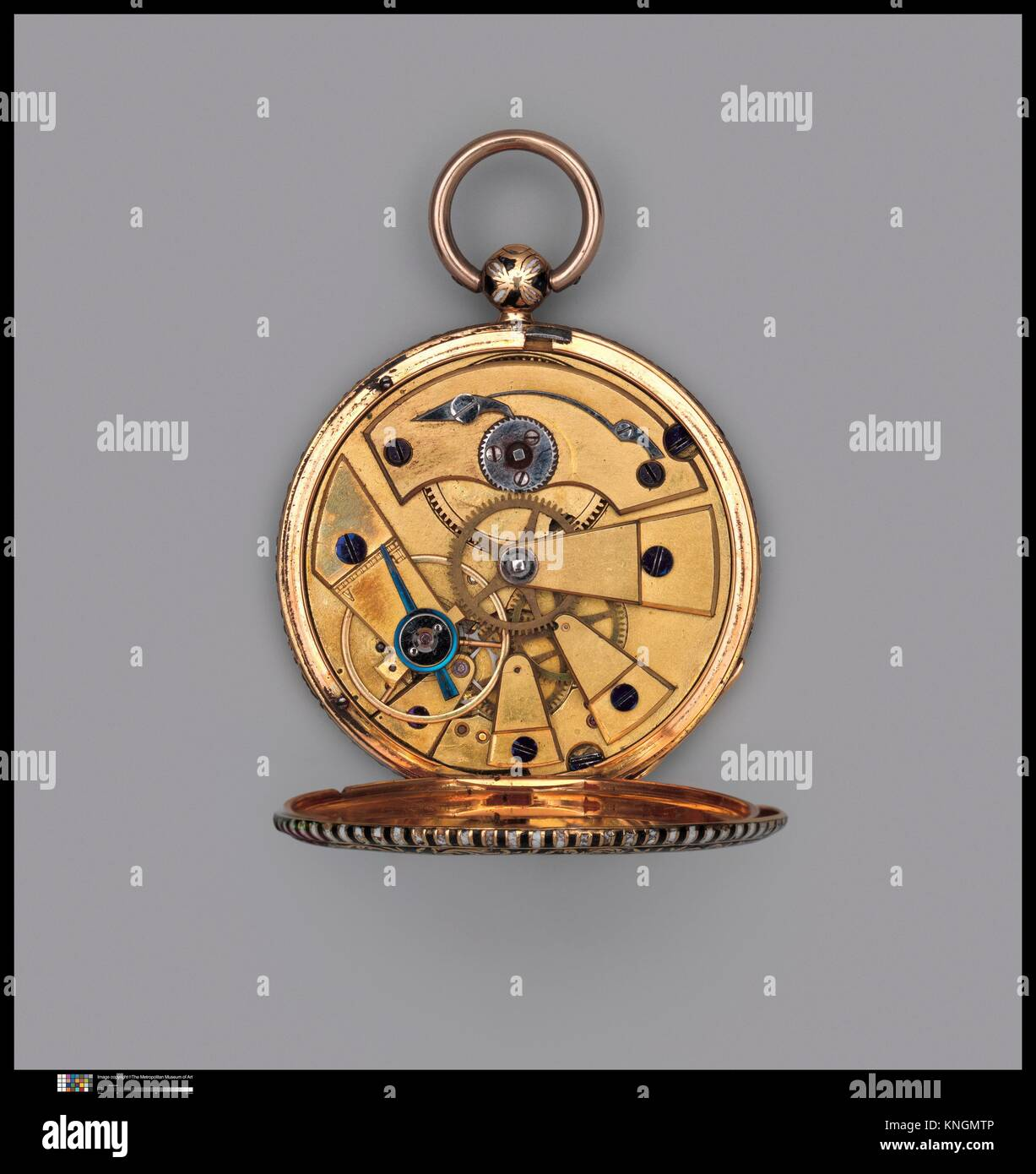 Watch. Maker: Watchmaker: Jacques Lépine (1814-1825); Date: 19th century; Culture: French, Paris; Medium: Gold; - Stock Image