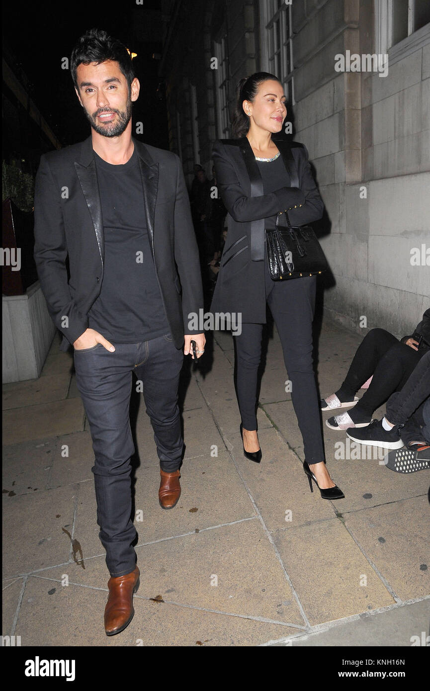 Jean Bernard Fernandez Versini Seen With a Mystery Woman at 5 Hertford Street, the restaurant adjacent LouLou's - Stock Image