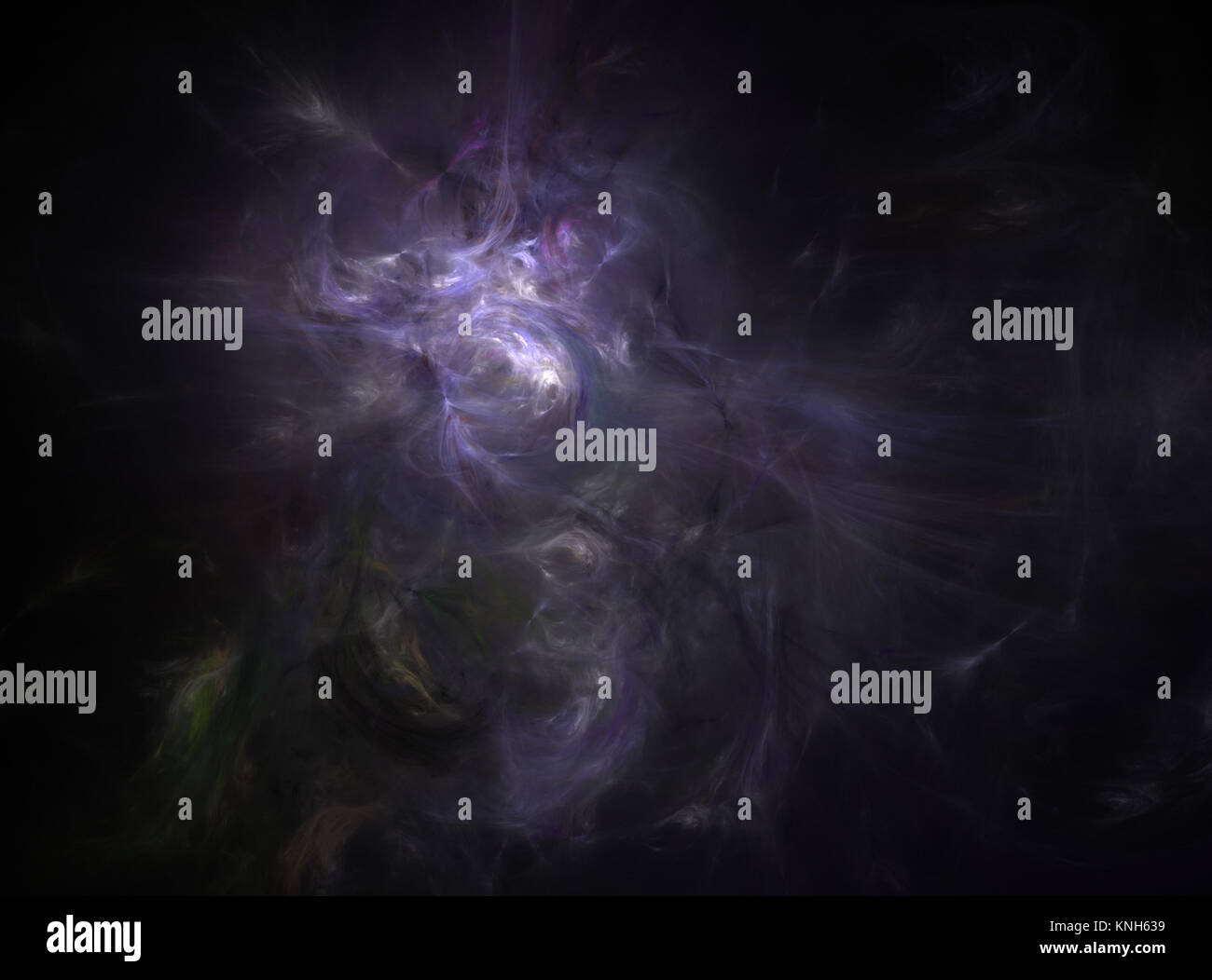 Flame fractal digitally generated nebula Stock Photo
