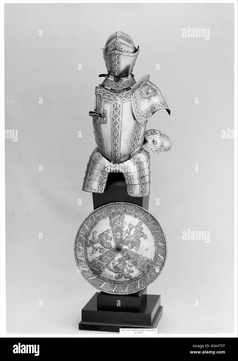 Portions of an Armor Garniture. Etcher: Jörg Sorg the Younger (German, Augsburg, ca. 1522-1603); Date: ca. - Stock Image