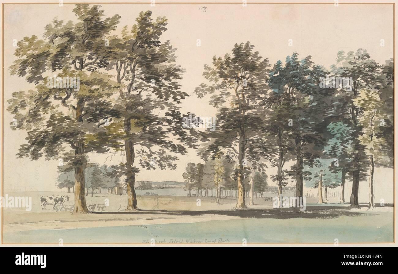 The Moat Island, Windsor Great Park. Artist: Thomas Sandby (British, baptized Nottingham 1723-1798 Windsor); Date: Stock Photo
