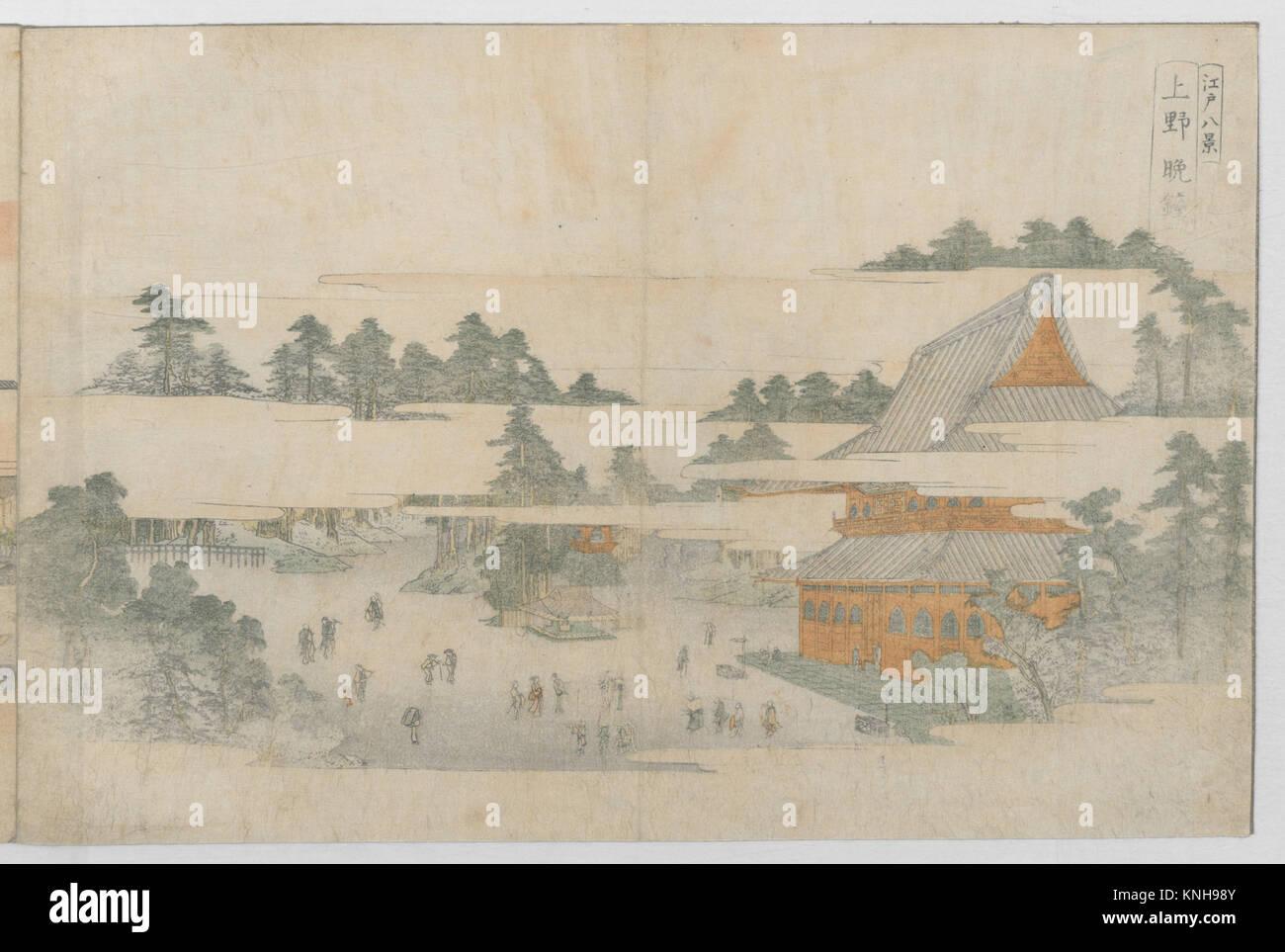 Edo hakkei/Eight Views of Edo. Artist: Utagawa Toyohiro (Japanese, 1763-1828); Period: Edo period (1615-1868); Date: - Stock Image