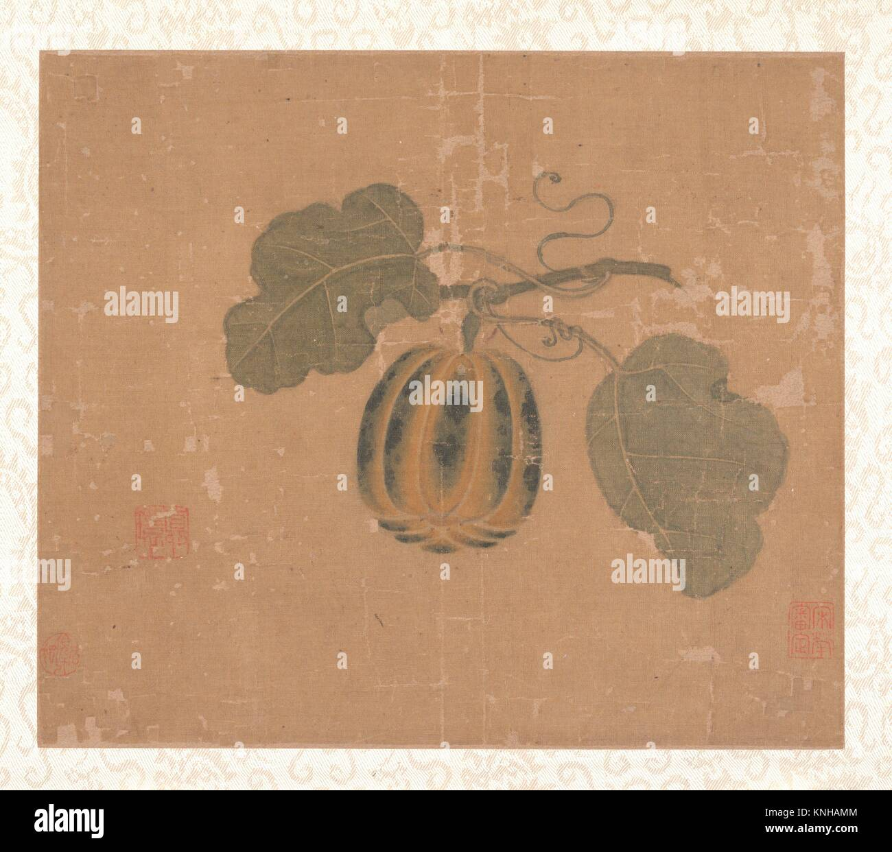 Squash. Artist: Unidentified Artist; Artist: in the style of Zhao Chang (Chinese, active 10th-11th century); Period: - Stock Image