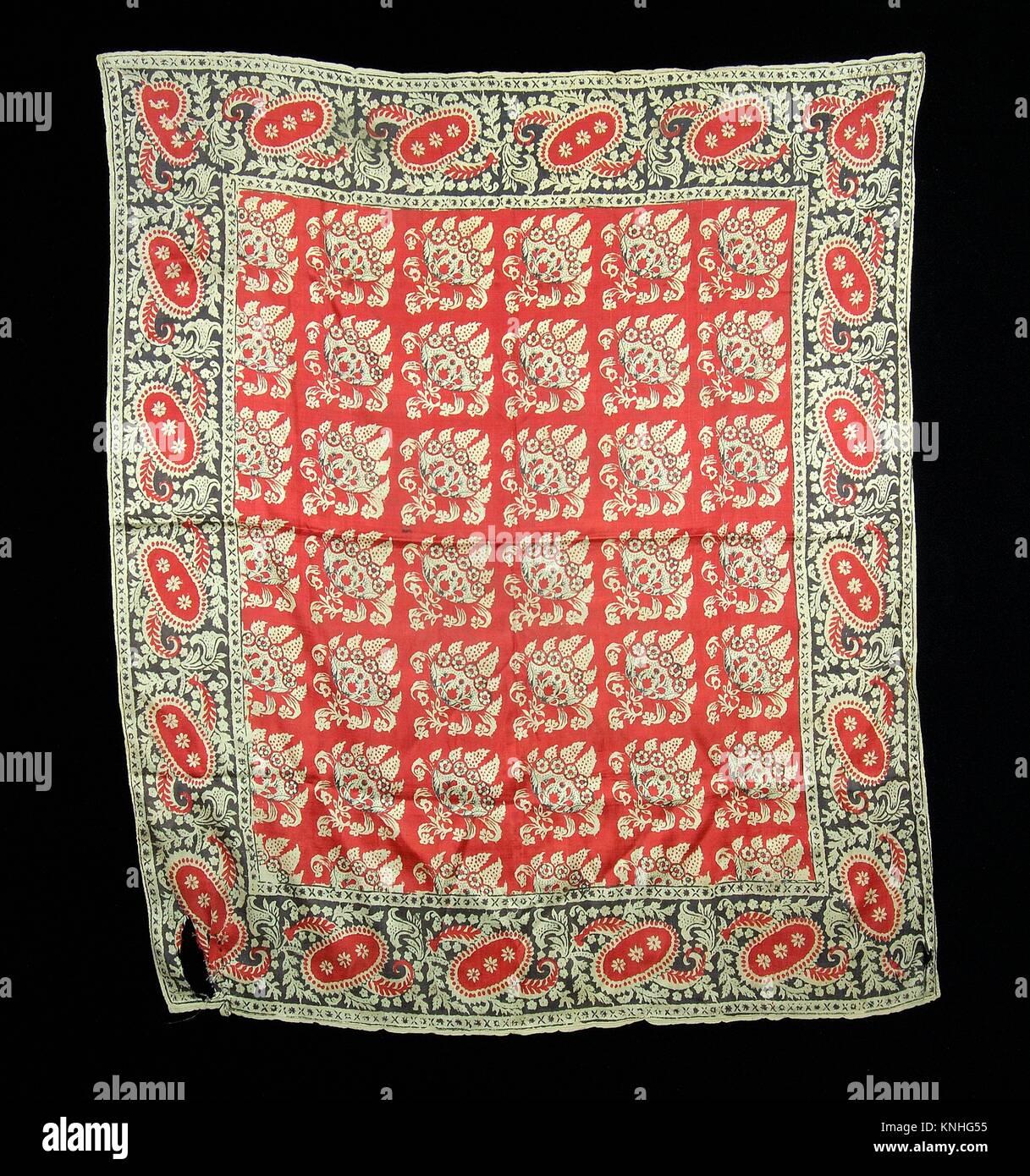 Headcloth. Date: first quarter 19th century; Culture: American; Medium: Silk; Credit Line: Brooklyn Museum Costume - Stock Image