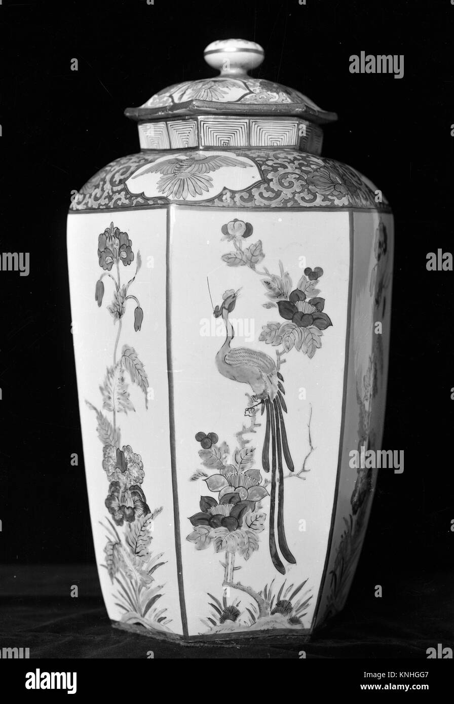 Vase. Factory: Chelsea Porcelain Manufactory (British, 1745-1784, Red Anchor Period, ca. 1753-58); Date: ca. 1755; - Stock Image