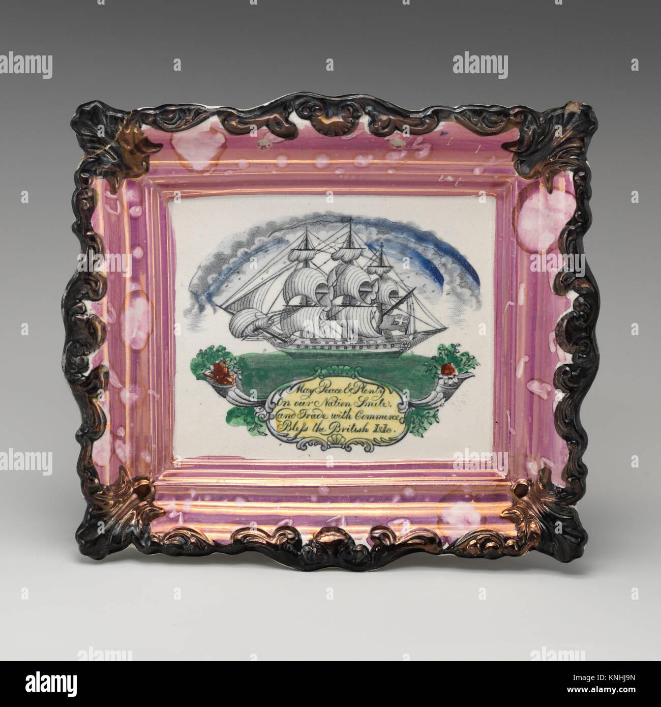 Peace and Plenty. Factory: Sunderland; Date: early 19th century; Culture: British, Sunderland, Yorkshire; Medium: - Stock Image
