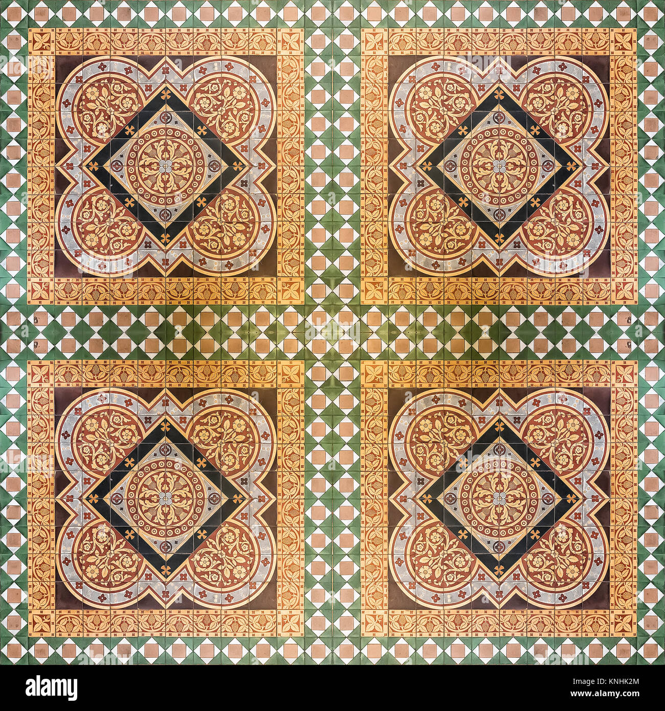 A seamless background image of patterned ceramic tiles from Glasgow ...