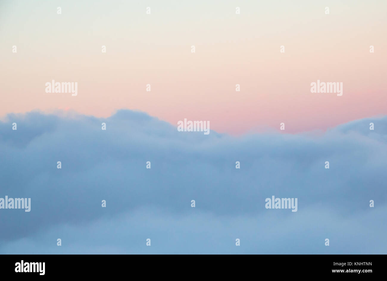 horizontal background of cloud bank and beautiful morning sky above - Stock Image