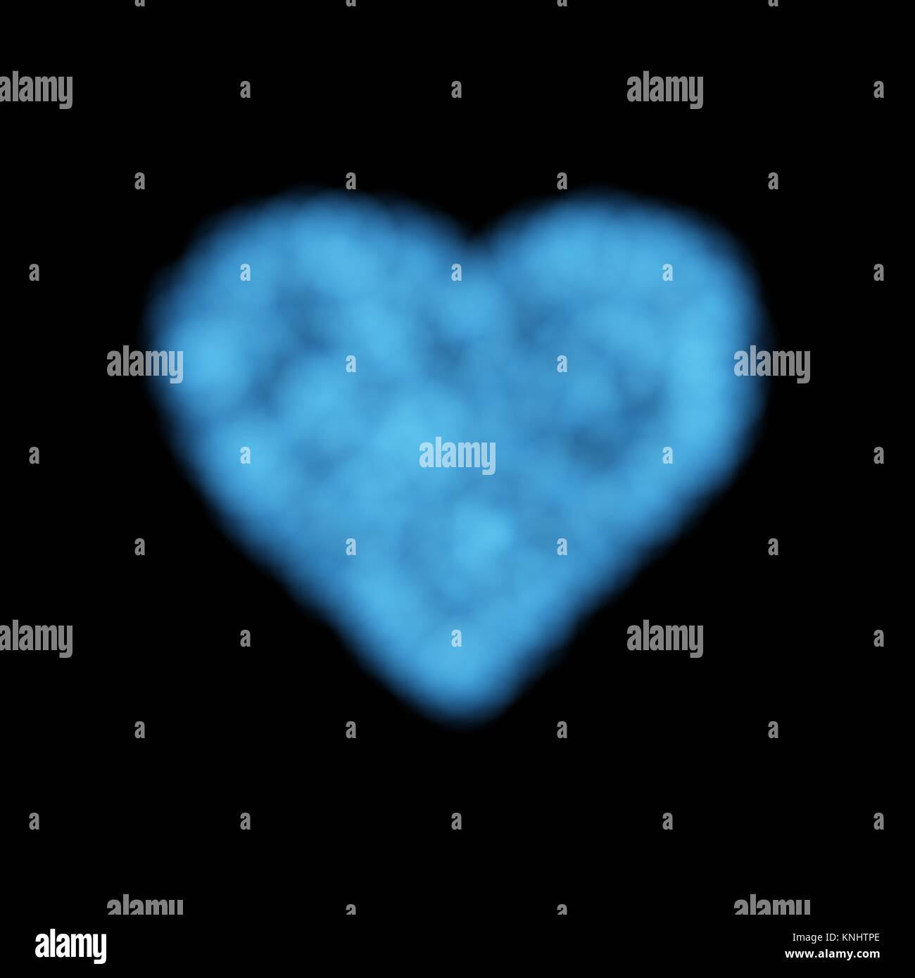 Vector Cloud Heart For Use On Dark Background Has