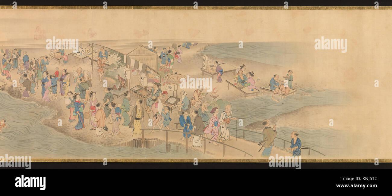 華洛四季遊楽図巻/Scenes - Stock Image