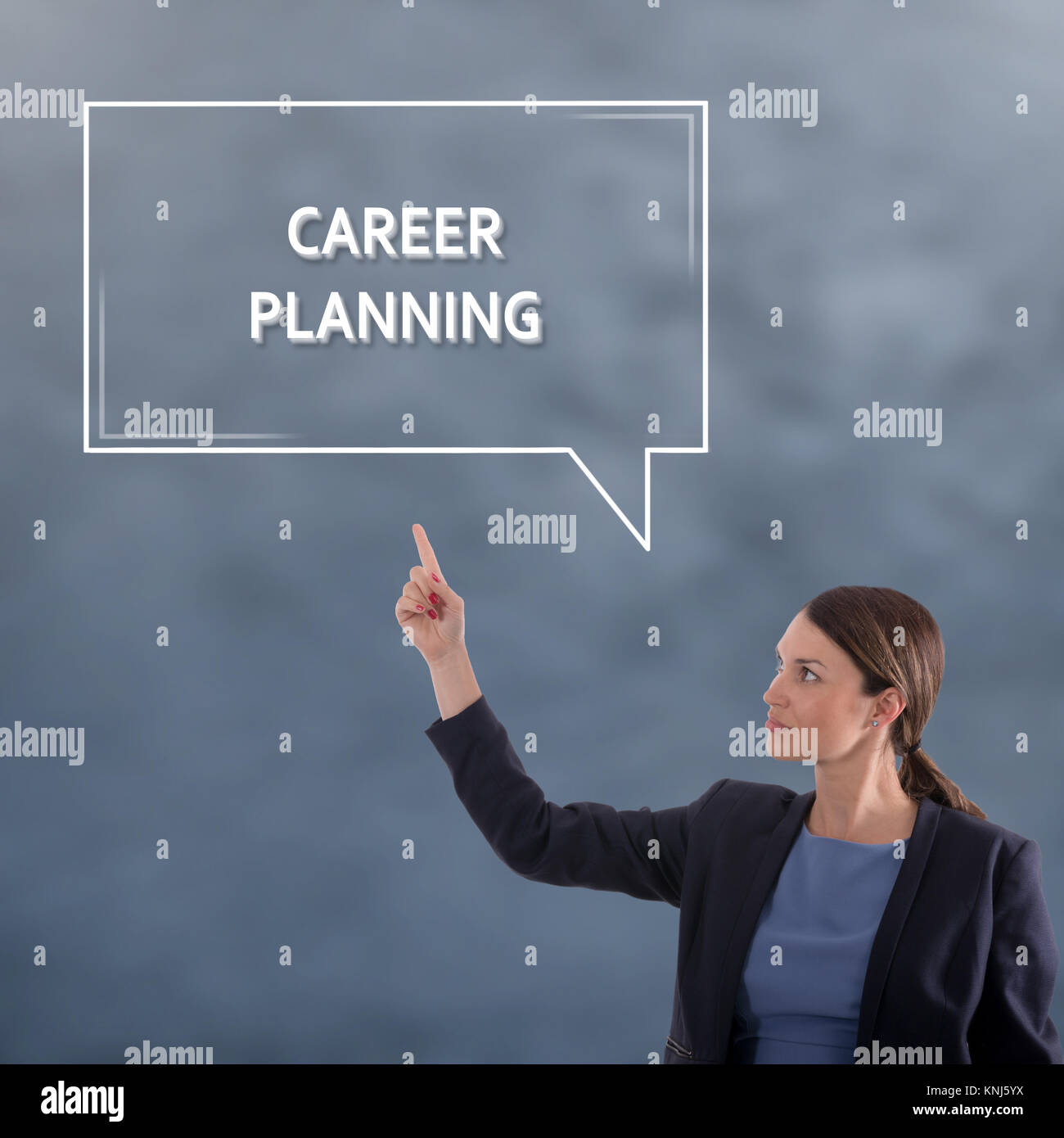 CAREER PLANNING Business Concept. Business Woman Graphic Concept - Stock Image