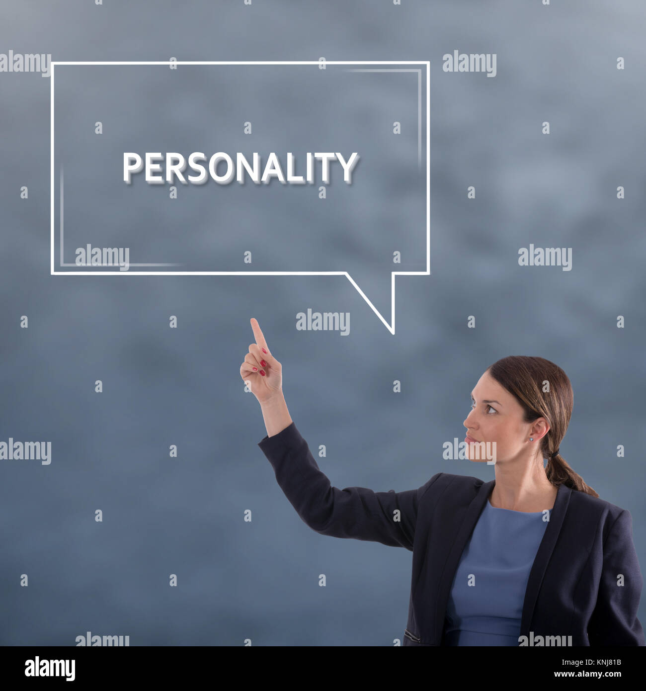 PERSONALITY Business Concept. Business Woman Graphic Concept - Stock Image