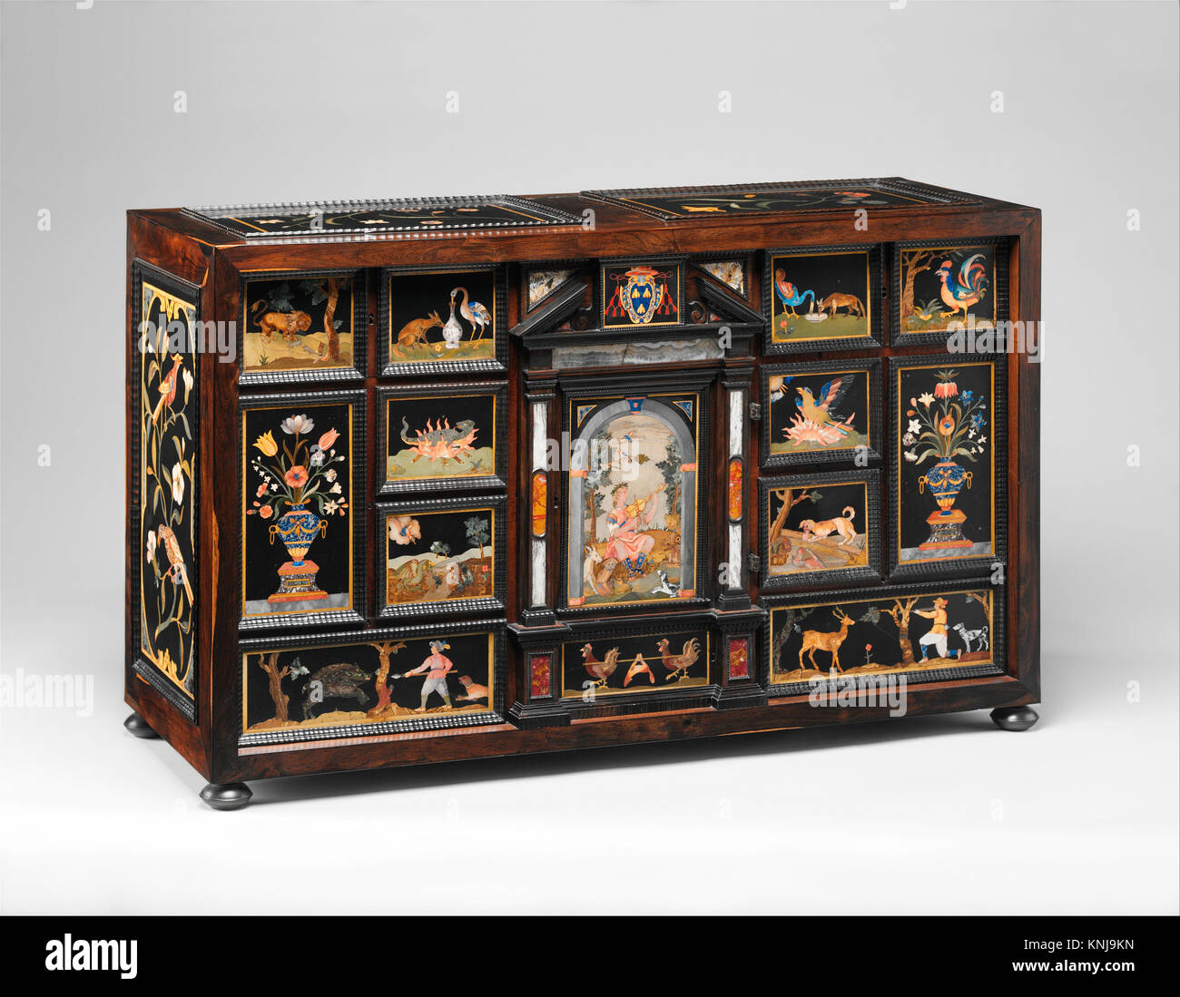 Barberini Cabinet. Maker: Galleria dei Lavori, Florence; Artist and publisher: After woodcut illustrations by Francesco - Stock Image