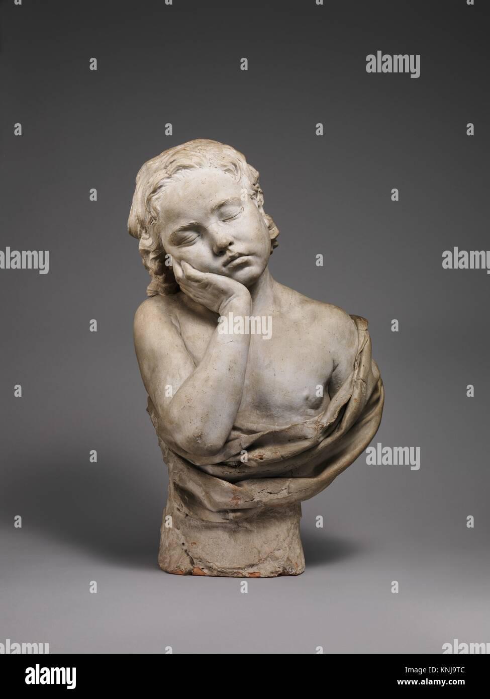 Sleeping Boy. Artist: Philippe Laurent Roland (French, Pont-à-Marc 1746-1816 Paris); Date: ca. 1774; Culture: - Stock Image