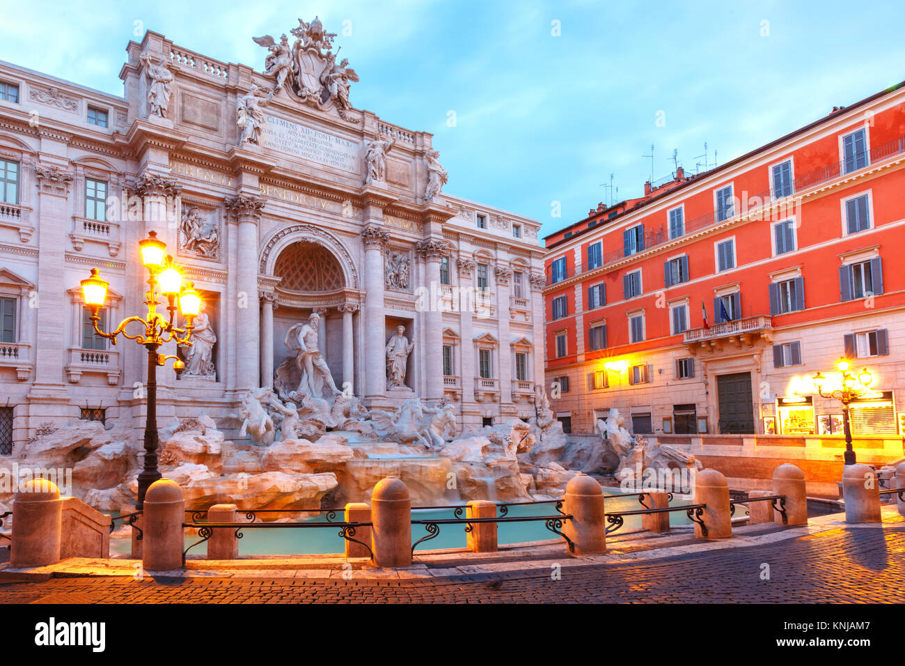 Trevi Fountain or Fontana di Trevi in Rome, Italy - Stock Image