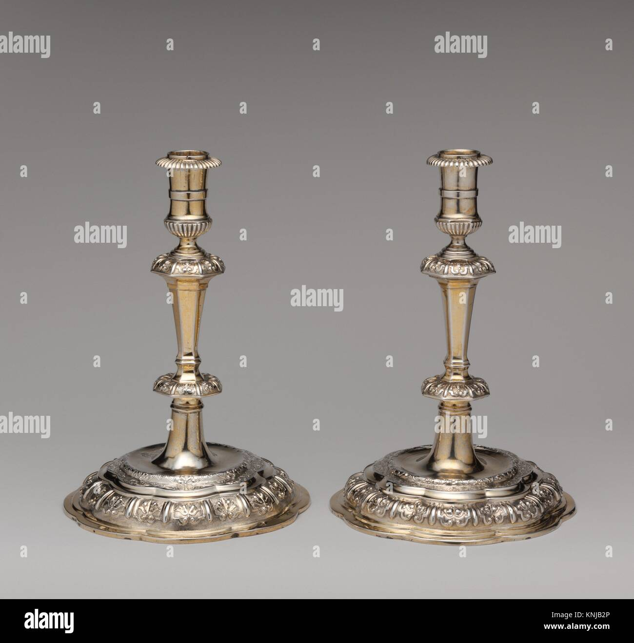 Candlestick (one of a pair). Maker: Master RW (Swedish, Upsala, early 18th century); Date: ca. 1710-20; Culture: - Stock Image