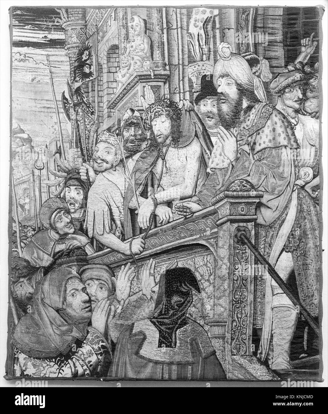 Christ Shown to the People. Designer: After a painting by Quentin Metsys (Netherlandish, Leuven 1466-1530 Kiel); - Stock Image