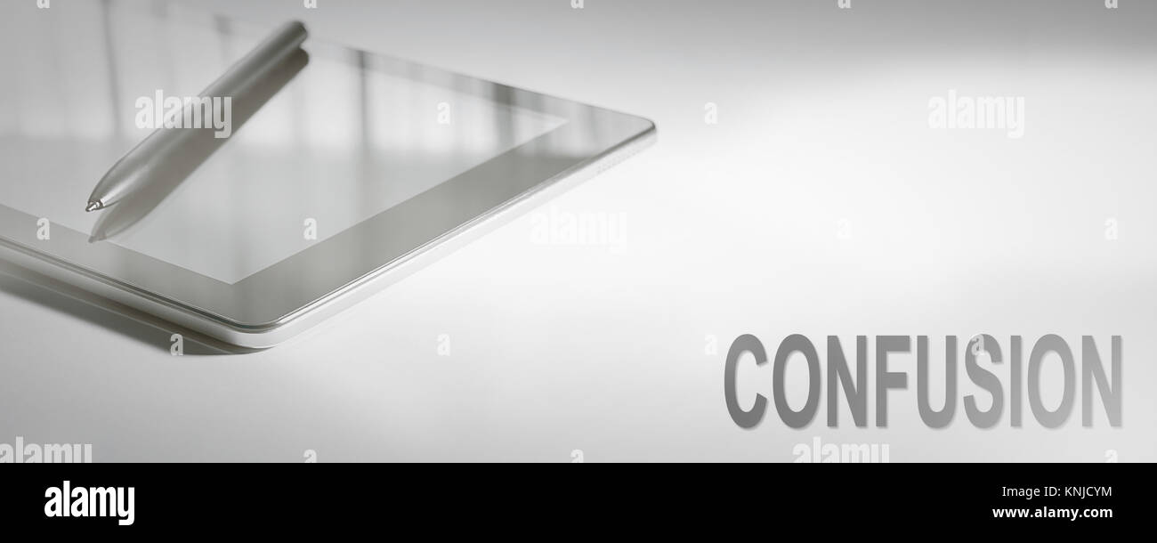 CONFUSION Business Concept Digital Technology. Graphic Concept. - Stock Image