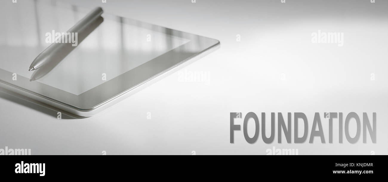 FOUNDATION Business Concept Digital Technology. Graphic Concept. - Stock Image