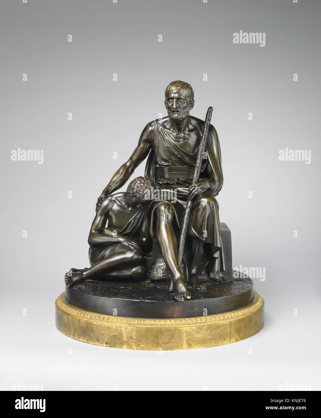 Belisarius and His Guide. Artist: Antoine Denis Chaudet (French, Paris 1763-1810 Paris); Date: 1794; Culture: French, - Stock Image